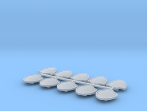 10 Pack Small Shield in Smooth Fine Detail Plastic