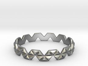 Trigonal Ring (size 4-13) in Raw Silver: 7 / 54