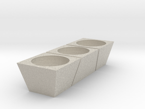 3 Flower pot in Natural Sandstone