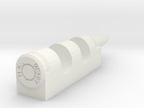 4.6x36mm cartridge-style chopsticks rest in White Natural Versatile Plastic