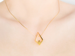 HIDDEN HEART Aurora, Pendant in 18K Gold Plated