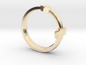 Sword Ring in 14k Gold Plated Brass: 5.5 / 50.25