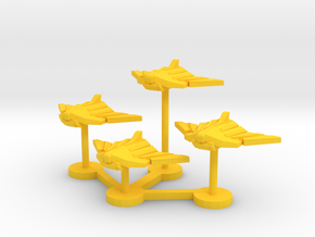 Colour Royal Falcons Lander Wing in Yellow Processed Versatile Plastic