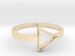 Triangle Ring in 14K Gold: 5.5 / 50.25