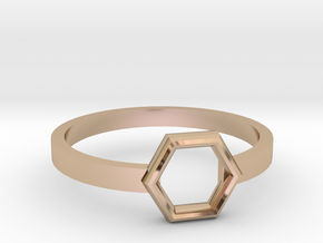 Octagonal Ring in 14k Rose Gold: 8 / 56.75