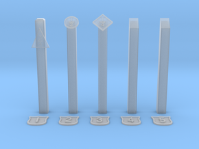 EP722 NSR Mileposts in Smooth Fine Detail Plastic