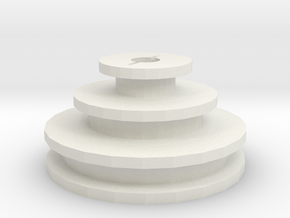 Unimat DB/SL replacement motor pulley in White Strong & Flexible
