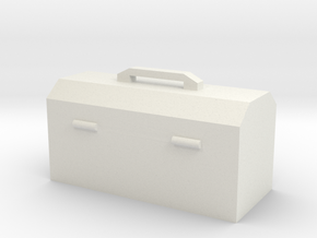 Hand Tool Box in White Natural Versatile Plastic