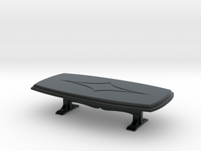 Dining Table. 1:48 in Black Hi-Def Acrylate