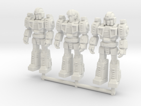 Diaclone Squad, at attention 35mm Minis in White Strong & Flexible