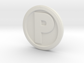 Printle Base (Round Med) 1.5 cm in White Strong & Flexible