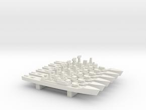 Leander-class frigate x 6, 1/3000 in White Natural Versatile Plastic