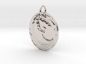 Old Time Moon by ~M. in Rhodium Plated Brass