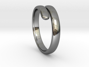 two becomes one / wedding ring in Fine Detail Polished Silver: 7 / 54