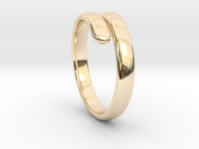 two becomes one / wedding ring in 14K Yellow Gold: 7 / 54