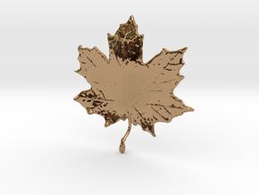 Maple Leaf in Polished Brass