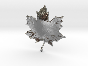 Maple Leaf in Polished Silver