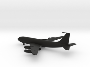Boeing 707 airplane miniature in Black Strong & Flexible: 1:400