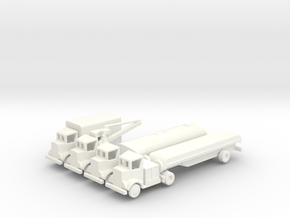 1/285 Scale Autocar WW2 Truck Series in White Strong & Flexible Polished
