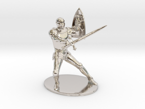 Paladin Miniature in Rhodium Plated Brass: 1:60.96