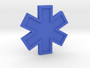 EMS Star of Life in Blue Strong & Flexible Polished
