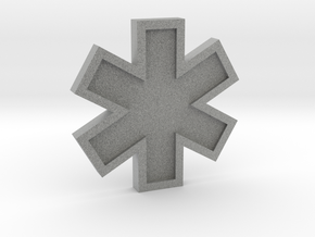 EMS Star of Life in Metallic Plastic