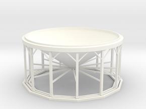 1/64 Hopper Bin 11Leg - No Air in White Processed Versatile Plastic