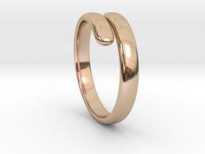 two becomes one / wedding ring in 14k Rose Gold Plated Brass: 7 / 54