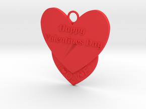 Valentine's Day Pendant in Red Processed Versatile Plastic