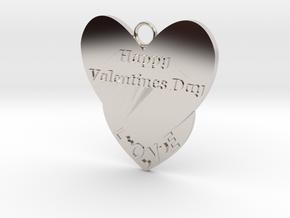 Valentine's Day Pendant in Platinum