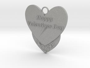 Valentine's Day Pendant in Aluminum