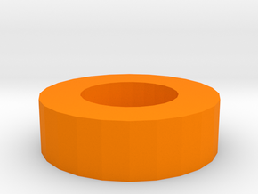 Nerf Muzzle to Airsoft Inner Barrel Stabilizer in Orange Processed Versatile Plastic