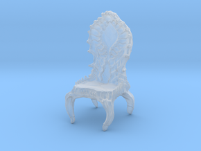 Chair, biomechanical Giger Style in Smooth Fine Detail Plastic