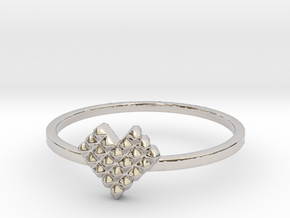 Crystallized Heart Ring (4-12) in Rhodium Plated: 7 / 54