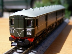N Scale (1:148) Class 128 Gloucester Parcels Body in Smooth Fine Detail Plastic