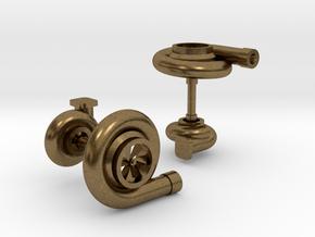 Turbocharger Cufflinks in Natural Bronze