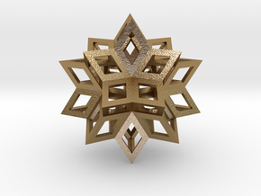Rhombic Hexecontahedron in Polished Gold Steel