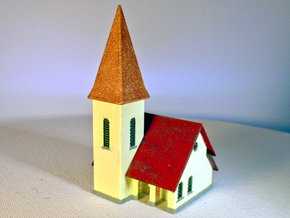 Dorfkirche - 1:220 (Z scale) in White Natural Versatile Plastic