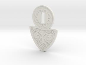 Khaleesi Belt B in White Natural Versatile Plastic