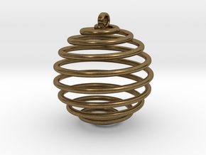 Spiral Sphere in Natural Bronze