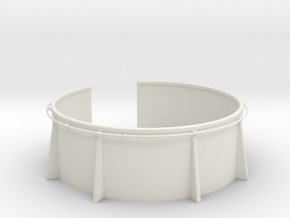 1/16  USN 20mm Gun Tub in White Natural Versatile Plastic
