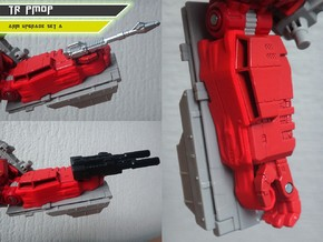 TR PMOP Arm Upgrade Set A in Red Strong & Flexible Polished