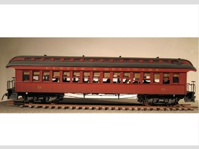 Passenger Car 1885 S Scale 1/64 in Frosted Ultra Detail
