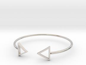 Arrow Around Bracelet S-L in Rhodium Plated Brass: Small