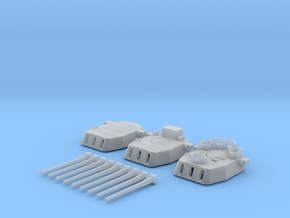 "1/600 16""/45 MKI HMS Nelson Turrets 1943 in Smooth Fine Detail Plastic"