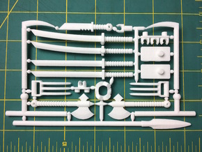 Martial Arsenal Ninja Weapon frame for ModiBot in White Natural Versatile Plastic
