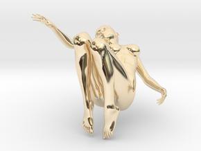 Elegant 3D Girl in 14k Gold Plated Brass