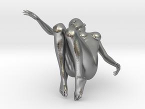 Elegant 3D Girl in Natural Silver