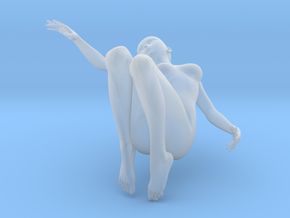 Elegant 3D Girl in Smooth Fine Detail Plastic