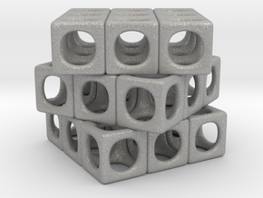 Rounded Cube in Aluminum